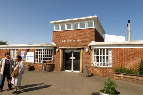 Former entrance at Churchill Hospital, Oxford